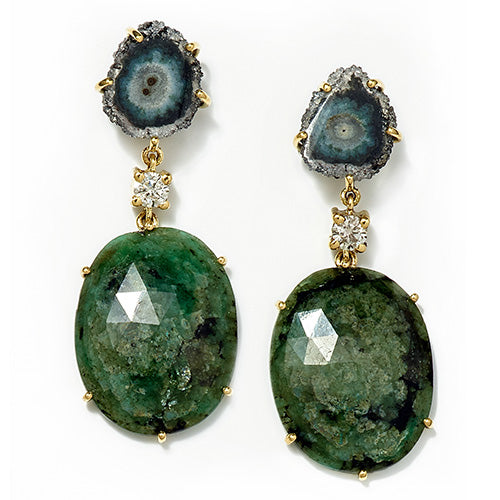 Emerald Paradise 18K One of a Kind Earrings