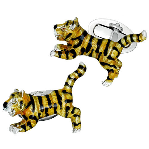 Jan Leslie Leaping Tiger Cufflinks