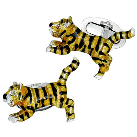 Leaping Tiger Cufflinks - Jan Leslie Cufflinks and Accessories