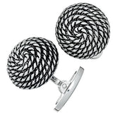 Jan Leslie Vintage-Inspired Spiral Rope Cufflinks