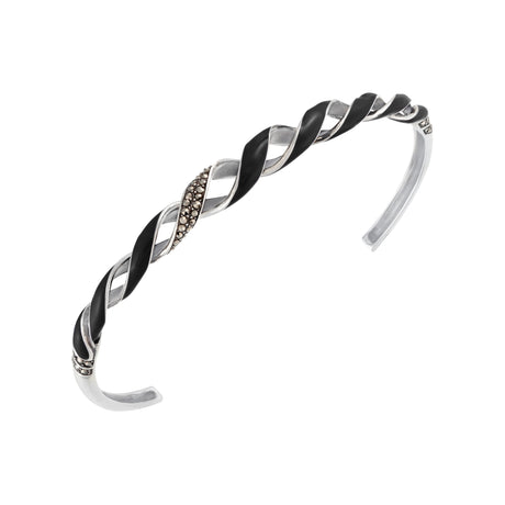Reef Ribbon Cuff Bracelet: The Stardust Pavé Jewelry Collection