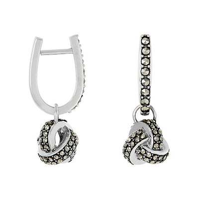 Classic Knot Huggy Earrings: The Stardust Pavé Jewelry Collection SALE ONLY Jan Leslie Jan Leslie