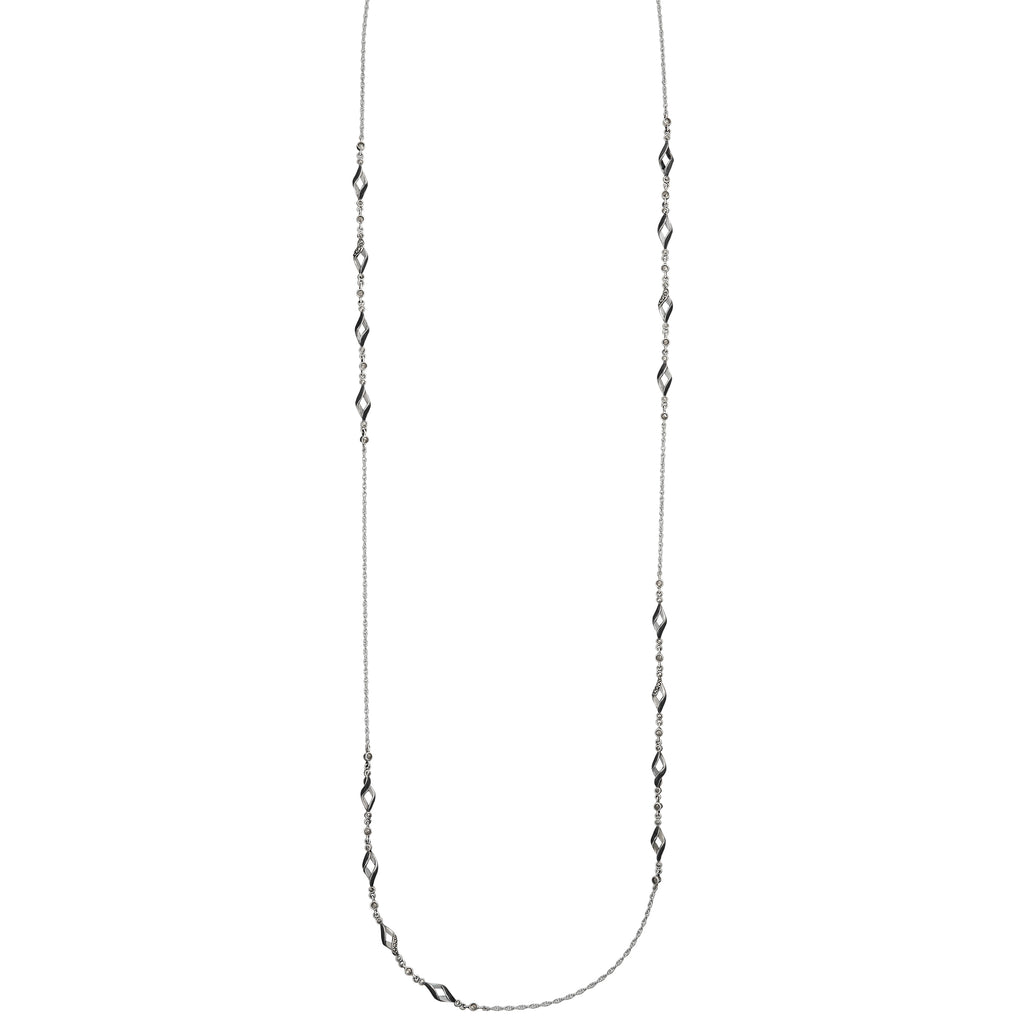 Reef Ribbon Twist Necklace: The Stardust Pavé Jewelry Collection