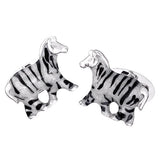 Animal Cuff Links: Zebra by Jan Leslie