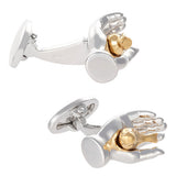 Gold Plated Bird in the Hand Cufflinks by Jan Leslie