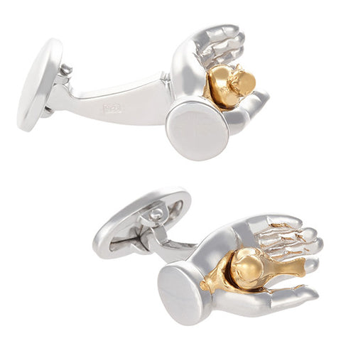 Gold Plated Bird in the Hand Cufflinks