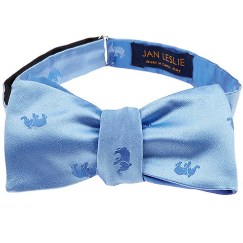 Signature Blue Elephant Bowtie