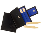 Brass Collar Stays Gift Pack: Insert Collar Stays with Blue Leather Case