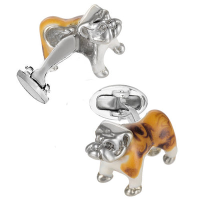 Enamel Bulldog Cufflinks - Jan Leslie Cufflinks and Accessories