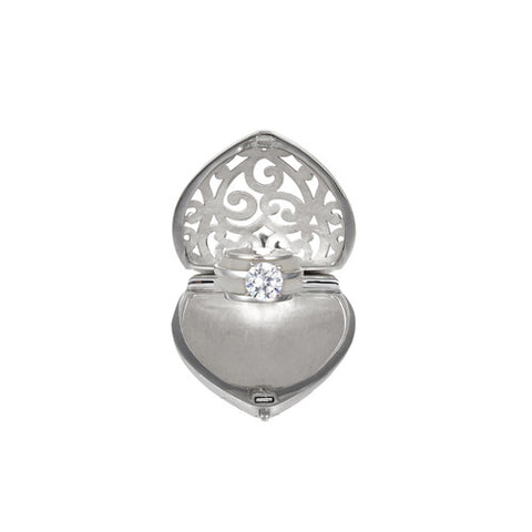 Heart-Shaped Engagement Ring Locket