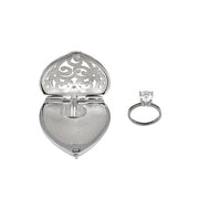 Heart-Shaped Engagement Ring Locket - Jan Leslie Cufflinks and Accessories