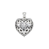Heart-Shaped Engagement Ring Locket by Jan Leslie