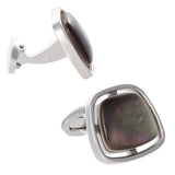Grey Floating Gemstone Cufflinks by Jan Leslie