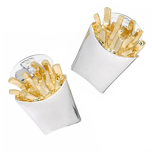 French Fry Cufflinks by Jan Leslie