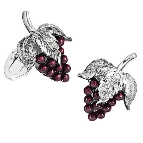Black Onyx Gemstone Grape Cufflinks by Jan Leslie