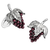 Garnet Gemstone Grape Cufflinks by Jan Leslie