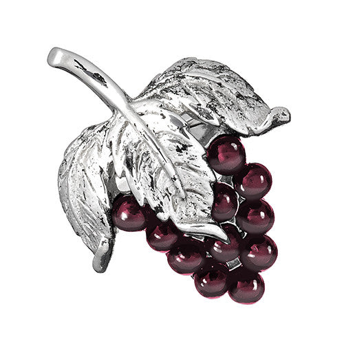 Garnet Grape Cluster Lapel Pin by Jan Leslie
