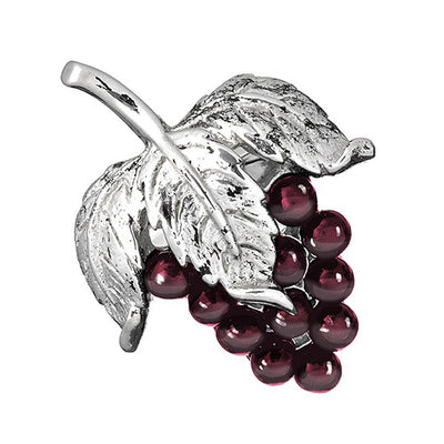 Garnet Grape Cluster Lapel Pin - Jan Leslie Cufflinks and Accessories