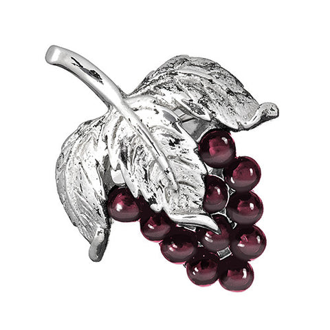 Garnet Grape Cluster Lapel Pin