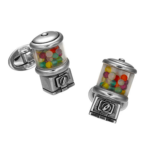 Gumball Machine Cufflinks - Jan Leslie Cufflinks and Accessories