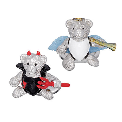 Moving Devil and Angel Bear Cufflinks