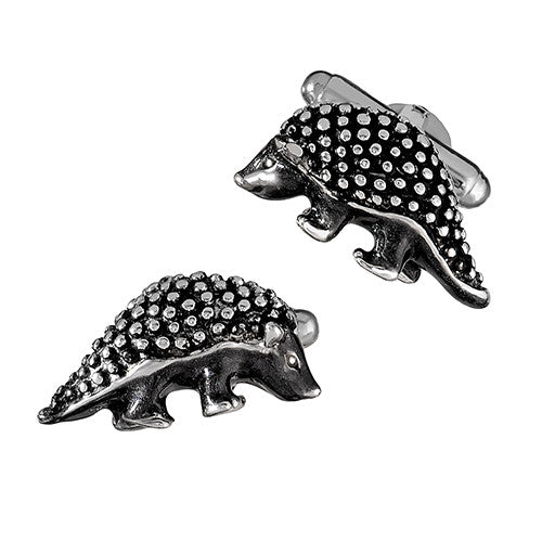 Sterling Silver Armadillo Cufflinks by Jan Leslie