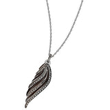 Black Swan Pendant Necklace: The Stardust Pavé Jewelry Collection by Jan Leslie