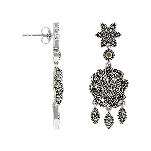 Medium Octopus Chandelier Earrings: The Stardust Pavé Jewelry Collection - Jan Leslie Cufflinks and Accessories