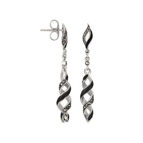 Reef Ribbon Twist Dangle Earrings: The Stardust Pav̩ Jewelry Collection by Jan Leslie