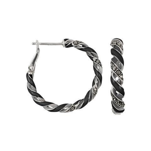 Reef Ribbon Hoop Earrings: The Stardust Pavé Jewelry Collection