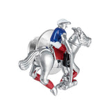 Horse and Jockey Lapel Pin by Jan Leslie