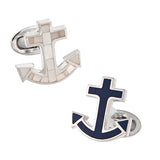 Jan Leslie Nautical Anchor Gemstone Cufflinks