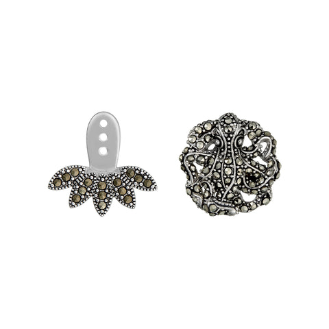 Octopus Earrings with Sea Petal Drop Accent: The Stardust Pavé Jewelry Collection