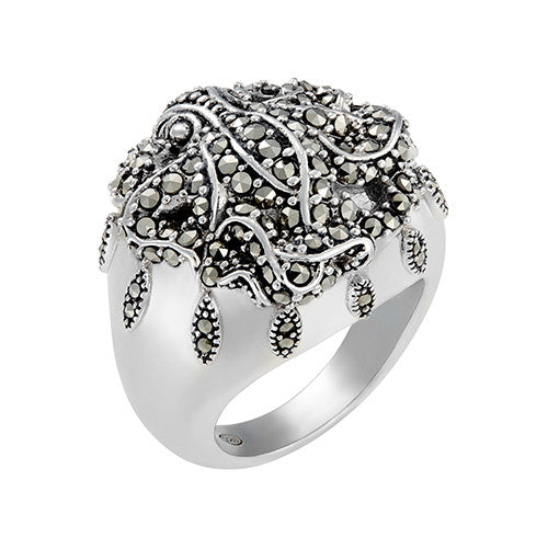 Octopus and Sea Petal Ring: The Stardust Pavé Jewelry Collection by Jan Leslie