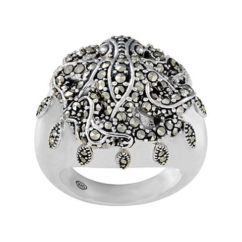 Octopus and Sea Petal Ring: The Stardust Pavé Jewelry Collection