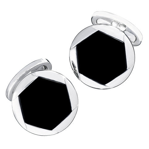 Onyx Blossom Cufflinks by Jan Leslie