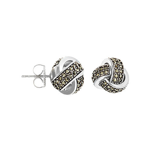 Classic Knot Earrings: The Stardust Pavé Jewelry Collection by Jan Leslie