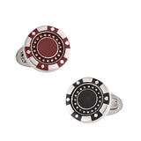 Jan Leslie Poker Chip Cufflinks
