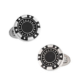 Jan Leslie Poker Chip Cufflinks in Black