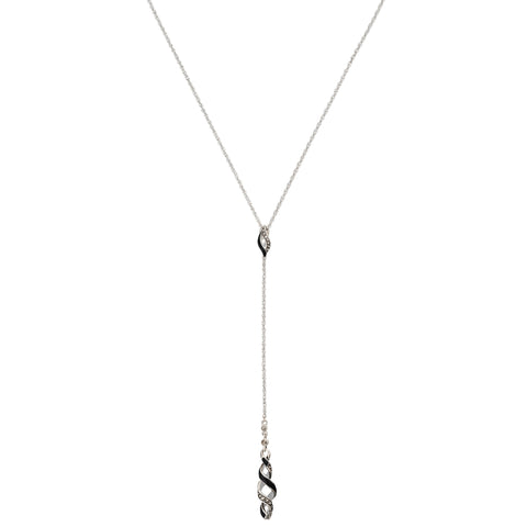 Reef Ribbon Twist Y-Drop Necklace: The Stardust Pavé Jewelry Collection