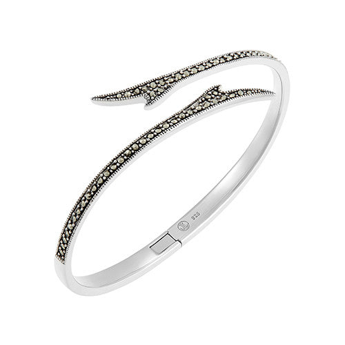 Seagrass Bangle Bracelet: The Stardust Pavé Jewelry Collection by Jan Leslie