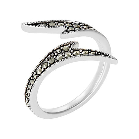 Seagrass Wrap Ring: The Stardust Pavé Jewelry Collection
