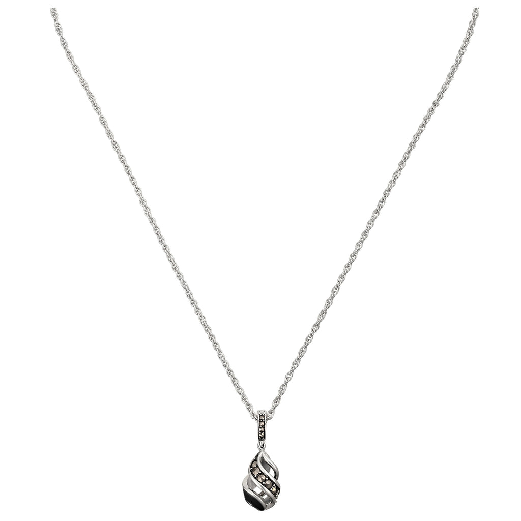 Reef Ribbon Twist Teardrop Necklace: The Stardust Pavé Jewelry Collection by Jan Leslie
