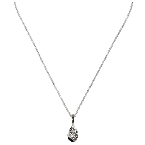 Reef Ribbon Twist Teardrop Necklace: The Stardust Pavé Jewelry Collection