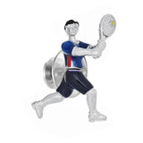 Moving Tennis Player Lapel Pin by Jan Leslie
