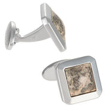 Faceted Leopard Skin Agate Cufflinks by Jan Leslie