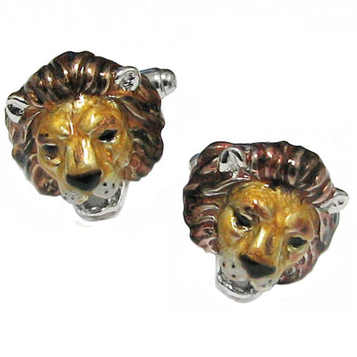 Lion's Head Cufflinks - Jan Leslie Cufflinks and Accessories
