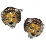 Lion's Head Cufflinks by Jan Leslie