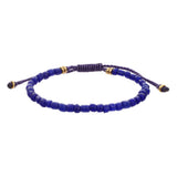 Men‰۪s Indonesian Beaded Bracelet in Blue by Jan Leslie