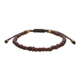 Men‰۪s Indonesian Beaded Bracelet in Brown by Jan Leslie